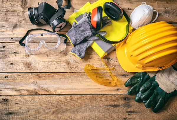 Assorted construction safety gear