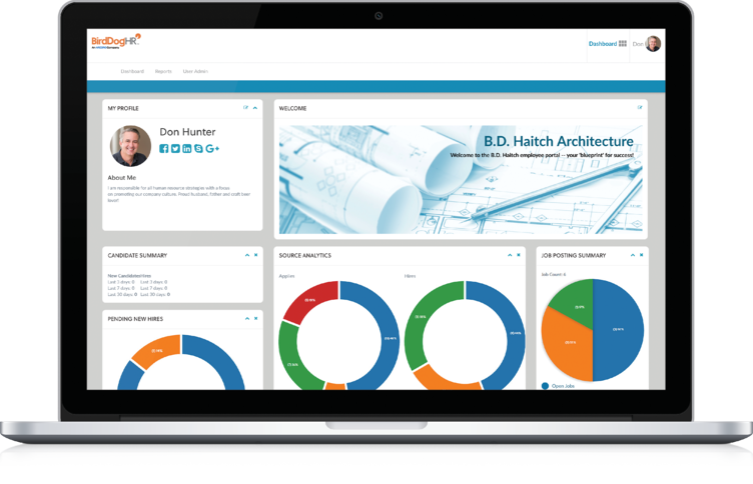 Employee dashboard screenshot
