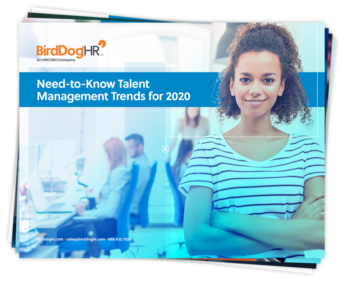 Need-to-Know Talent Management Trends for 2020 whitepaper