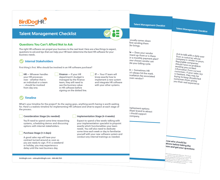Talent Management Checklist