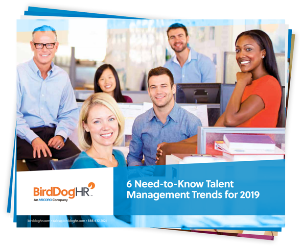 6 Need-to-Know Talent Management Trends for 2019 cover