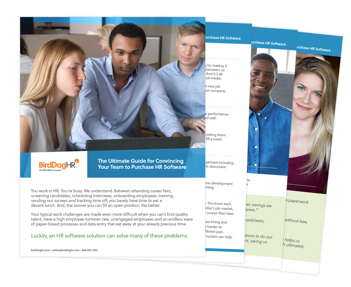 The Ultimate Guide for Convincing Your Team to Purchase HR Software whitepaper